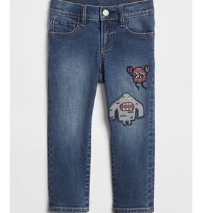 Gap Baby Toddler Boy 2T Monster Patch Jeans NEW
